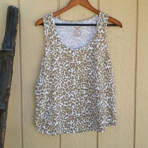 Faded Glory Tank Top Scoop Neck Animal Print 16/18
